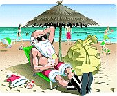 Santa Claus on holiday